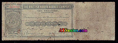 British North Borneo banknotes - British North Borneo paper money ...