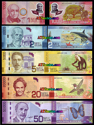 Costa Rica Banknotes Paper Money Catalog And Rican Currency History