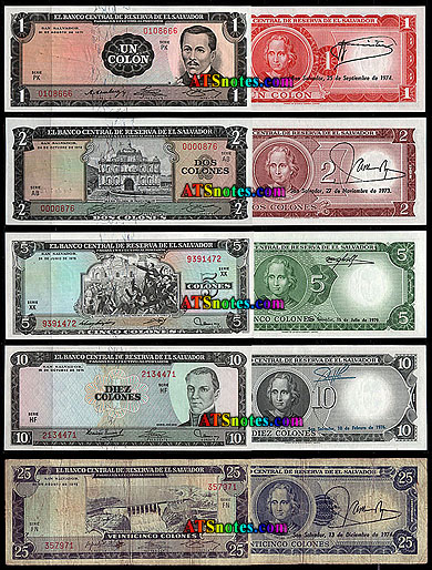 El Salvador Banknotes Paper Money Catalog And Salvadoran Currency History