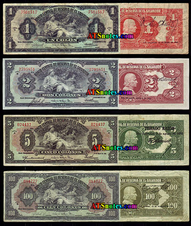 El Salvador Paper Money Catalog And Salvadoran Currency History