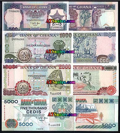 ghana banknotes ghana paper money catalog and ghanese currency history