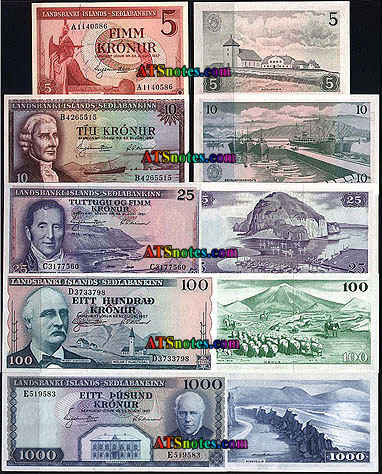 Iceland Banknotes Paper Money Catalog And Icelandese Currency History