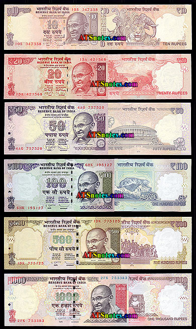 India banknotes - India paper money catalog, Indian currency