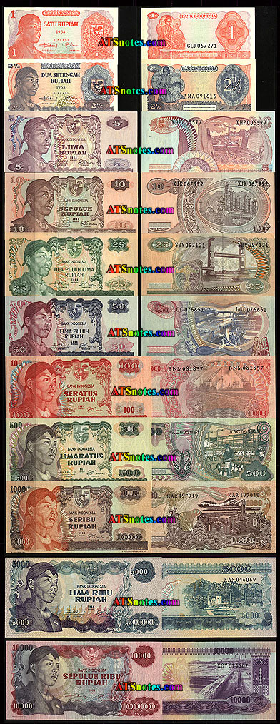 Indonesia Banknotes Indonesia Paper Money Catalog And Indonesian