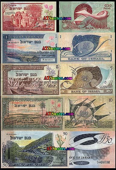 Israel Banknotes Paper Money Catalog And Israeli