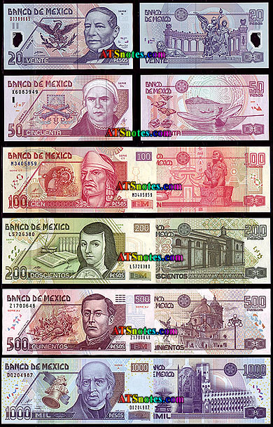 Mexico Banknotes Paper Money Catalog And Mexican Currency History