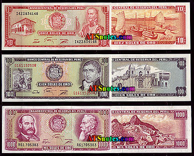 Peru banknotes peru paper money catalog and peruvian currency history 10 50 100 500 1000 soles altavistaventures Image collections