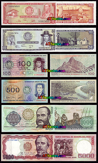 Peru banknotes peru paper money catalog and peruvian currency history 10 50 100 500 1000 5000 soles altavistaventures Image collections