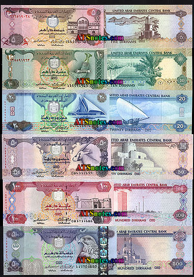 UNITED ARAB EMIRATES UAE 5 Dirhams UNC Banknote Pick p26a ... |Arab Emirates Currency