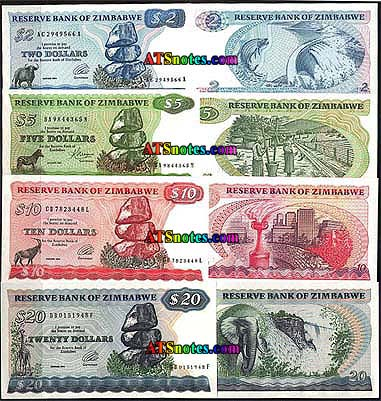 Zimbabwe Paper Money Catalog And Currency History